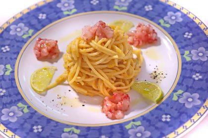 Spaghettoni alla carbonara con gamberi e lime - Stella d'Italia a Gambara